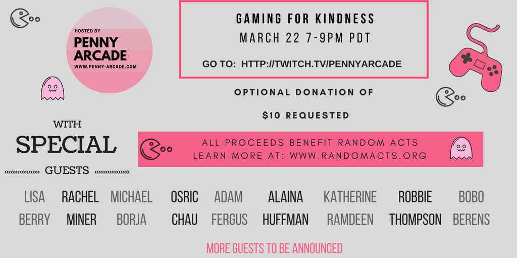 Gaming for Kindness Twitch Stream Fundraiser - Random Acts