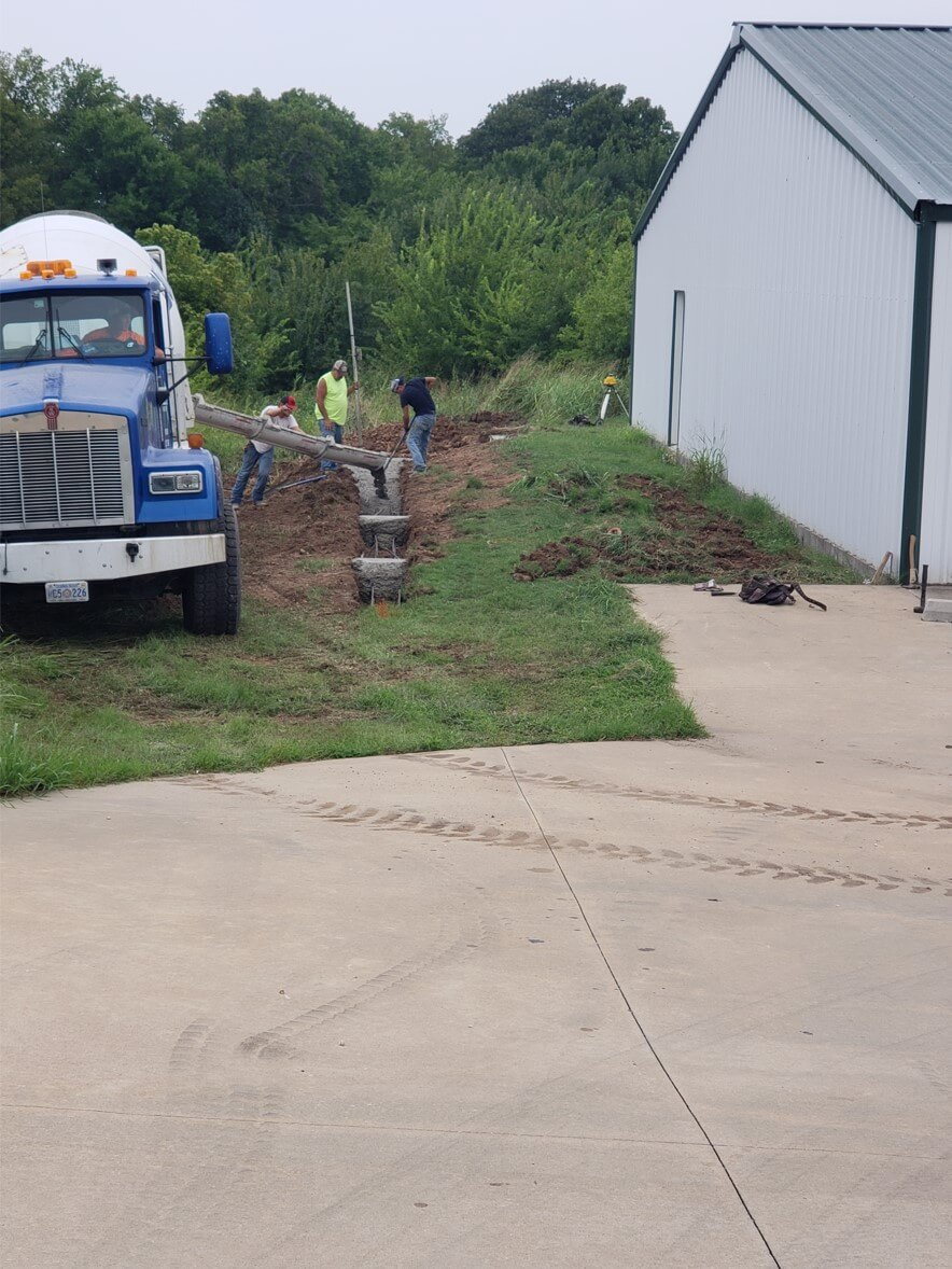 new driveway for Rainbow House, in progress