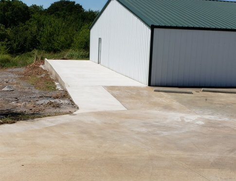 finished driveway for Cherokee Rainbow House