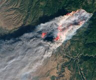 Camp Fire as seen from NASA's Landsat satellite