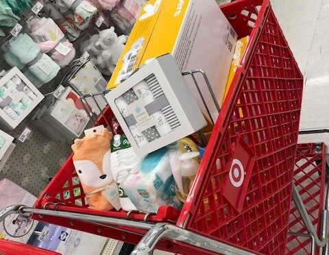 shopping cart of items for Maria