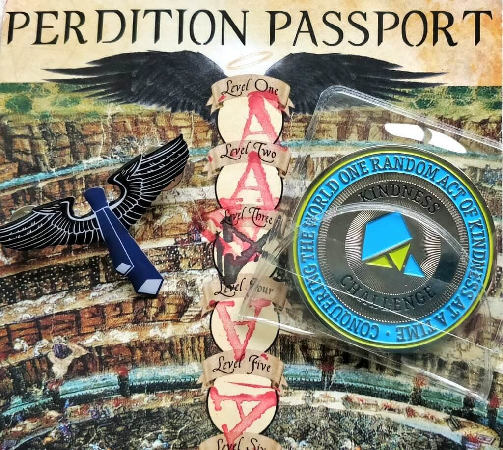 passport and awards from the Escape from Perdition game - photo by Rea Cupit