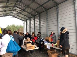Health Wagon gift distribution!