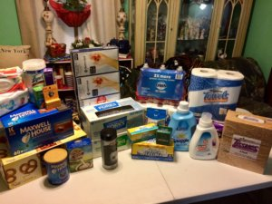 Collected donations for Mercy House.