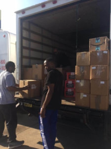 SHYC retreat attendees load up donations with SoupMobile