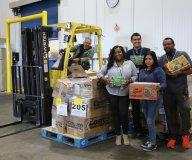 LA Food Bank receiving donation