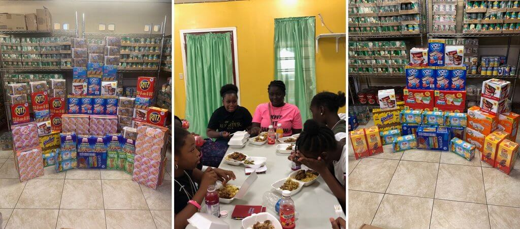 feeding struggling families in the Virgin Islands