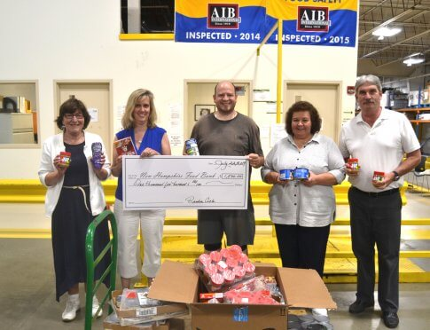 New Hampshire Food Bank staff with our donation