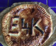 pie with E4K on the crust