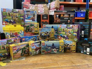 Toys and Hygiene Items Donated to The Brick