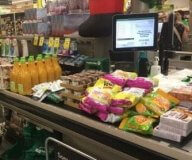 Groceries at register