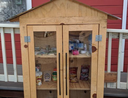 The new mini-food pantry