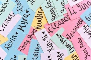 names on paper slips