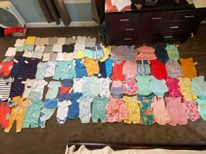 Clothes donated to the NICU