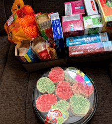 Gift Baskets Donated to Mercy House Spread Holiday Cheer