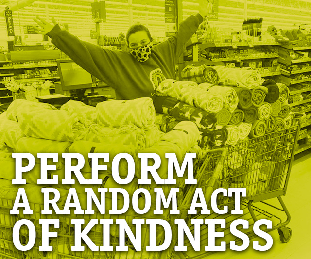 Perform and Act of Kindness button