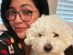 Paulina Fangel and her dog
