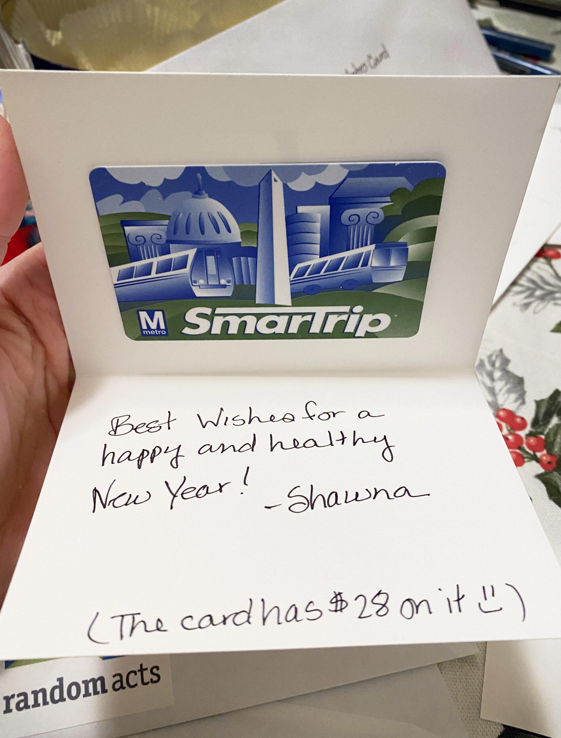photo of transit card
