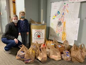 donating food