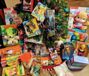 assortment of children's gifts